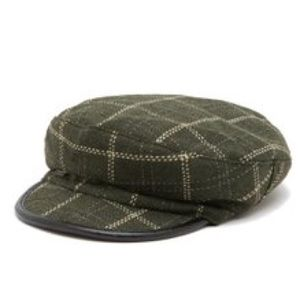 NWT Vince Camuto Newsboy Cap Check Plaid Hat